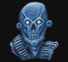 Blue Zombie Skull Head by Rustyoldtown