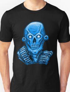 Blue Zombie Skull Head T-Shirt