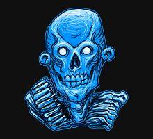 Blue Zombie Skull Head Unisex T-Shirt