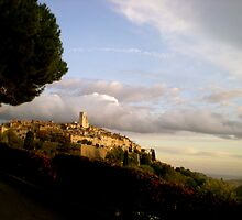 A City on a Hill - St. Paul, France by Britland Tracy