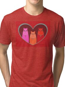 Three Wishes For Valentine's Day Tri-blend T-Shirt
