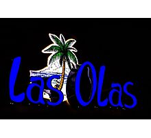 Neon Sign in Carlsbad California Photographic Print