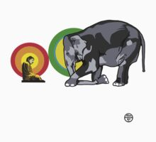 Buddha & The Elephant  by 45thAveArtCo