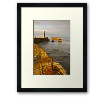 East Pier, Whitby, North Yorkshire Framed Print