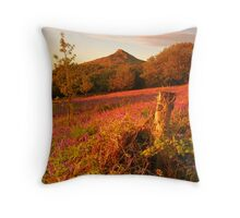 Bluebells and Roseberry Topping, Newton Wood, Great Ayton, North Yorkshire Moors Throw Pillow