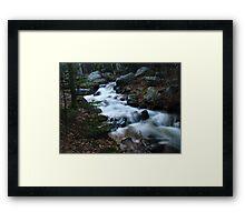 Rocky Mountain Cascades Framed Print