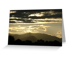 Dark Clouds with Silver Linings in Smoky Mountains Greeting Card