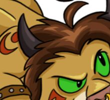 Tauren Cat Druid Sticker Sticker