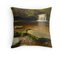 Cauldron Falls, West Burton, Bishopdale, Yorkshire Dales Throw Pillow