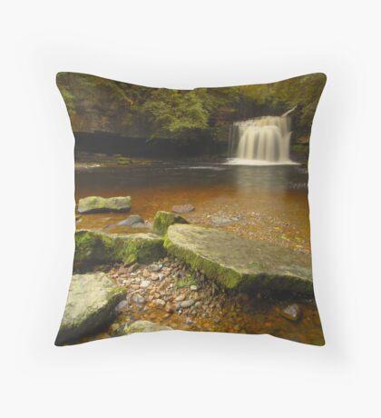 Cauldron Falls, West Burton, Bishopdale, Yorkshire Dales Throw Pillow