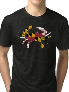 Maryland Flag Crab Tri-blend T-Shirt