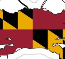 Maryland Flag Crab Sticker