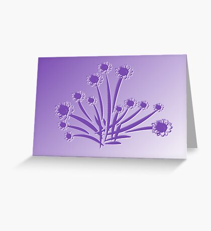 Patch of Purple Flowers Greeting Card