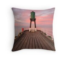West Pier, Whitby, North Yorkshire Throw Pillow