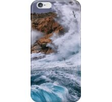 Gale with huge waves crashing iPhone Case/Skin