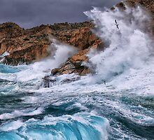 Gale with huge waves crashing by Antonis Lemonakis