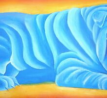 Blue Tootsie-roll Dog by TScott