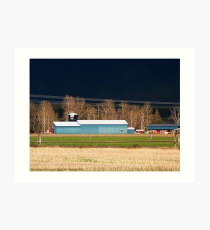 Stormy Montana Farm Art Print