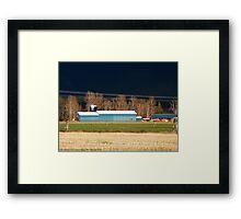 Stormy Montana Farm Framed Print