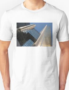 Gold, Black and Blue Geometry - Royal Bank Plaza T-Shirt