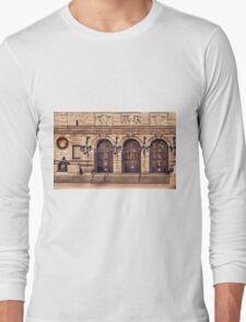 Christmas night at Boston Public Library Long Sleeve T-Shirt