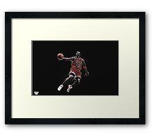 Michael Jordan Design Framed Print