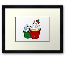 The Kawaiiest of Cupcakes Framed Print