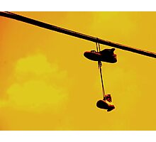 converse on the wire Photographic Print