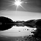 Sparkling Sun light Over St.Mary's Loch,Scotland. by Aj Finan