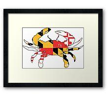 Maryland Flag Crab - Distressed Framed Print