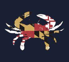 Maryland Flag Crab - Distressed Kids Tee