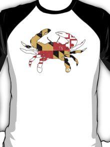 Maryland Flag Crab - Distressed T-Shirt