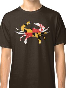 Maryland Flag Crab - Distressed Classic T-Shirt