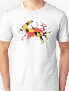 Maryland Flag Crab - Distressed Unisex T-Shirt