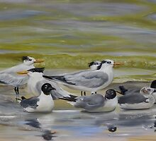 Shorebird Group by Phyllis Beiser