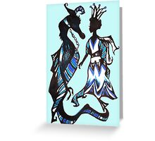 Sapphire Sky Serpent Greeting Card