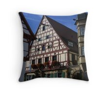 typical street scene in southern Germany Throw Pillow