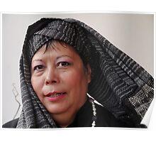 (589) Turban and shawl Poster
