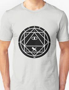 Scarr Diagram White on Black Unisex T-Shirt