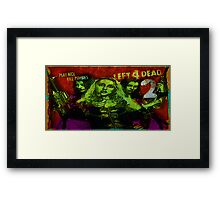 Play Nice, Kill Zombies Framed Print