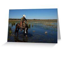 """""""Cracker Cowboy""""- Cowboy Sunrise Greeting Card"""