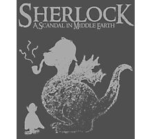Sherlock: A Scandal in Middle-earth (Grey) Photographic Print