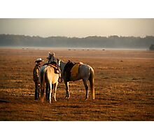"""""""Dawns Early Light""""- Cowboy Roundup Photographic Print"""