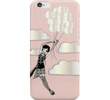 Floating Flapper Gatsby Girl in pink and pearl iPhone Case/Skin