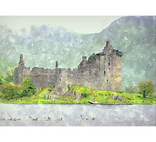 crichton castle-scotland  Photographic Print