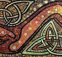 Celtic Knotwork- Ruby Hound by Firebane