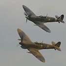 Grey day Spitfires. by PeterWort