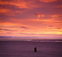 Red Sky at Findhorn by Christopher Thomson