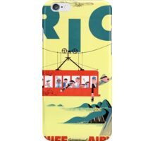 Rio Vintage Travel Poster Restored iPhone Case/Skin