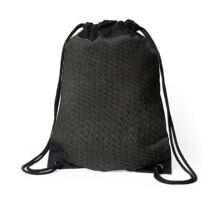 Snake Skin - Dark Grey Drawstring Bag